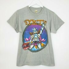 New listing Y&T In Rock We Trust Sz Med Tour Shirt 1983 Gray Yesterday & Today Short Sleeve