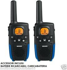 KIT 2 WALKIE TALKIE BRONDI RICETRASMITTENTI PORT. 7 KM MODELLO FX 50 TWIN