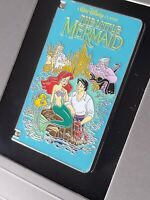 Disney VHS Tape Pin The Little Mermaid Ariel Ursula Eric King Triton Flounder