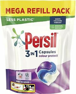 Persil 3 in 1 Colour Protect Washing Capsules Mega refill pack 50 Wash 1.350kg