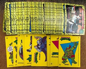 TMNT 1989 Topps Teenage Mutant Ninja Turtles Complete Set 88 Cards/11 Stickers