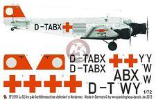 Peddinghaus 1/72 Junkers Ju 52/3mg4e Markings Ambulance Plane Norderney 2593