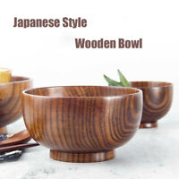 Japanese Style Wooden Bowl SoupSalad Rice Bowls Natural  Tableware