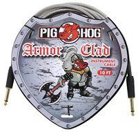 10' Armor Clad Conduit Style Metal Jacket Guitar Instrument Cable Pig Hog