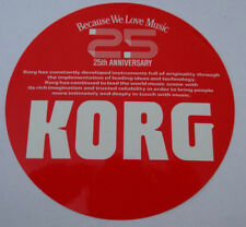Autocollant 25th Anniversary 25 ans Korg m1 synthétiseur Keyboards 80er Autocollant