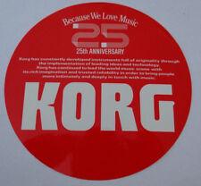 Aufkleber 25th Anniversary 25 Jahre KORG M1 Synthesizer Keyboards 80er Sticker