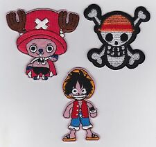 LUFFY TONY CHOPPER STRAW HAT Anime Iron on Patches/Sew On/Applique/Embroidered