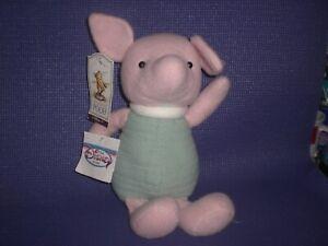 "Classic Pooh 12""  FELT PLUSH  PIGLET Toy ANIMAL NWT DISNEY STORE"