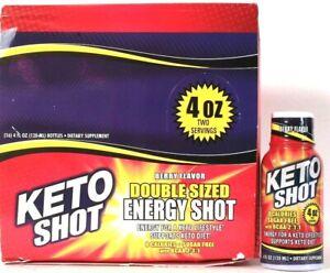 16 Ct Keto Shot 4 Oz Berry Flavor 0 Calories Sugar Free BCAA For Keto Lifestyle