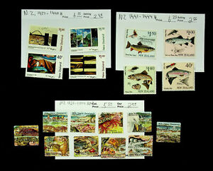 NEW ZEALAND MARINE SPECIES FISH PAINTINGS 18v MINT STAMPS CV $18