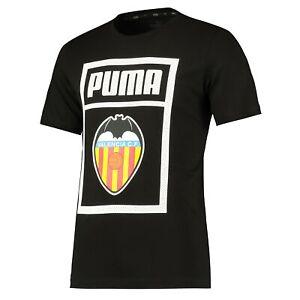 Valencia CF Shoe Tag Football Fans Summer Training T-Shirt Tee Top Black - Mens