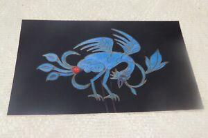 VINTAGE POSTCARD HAIR COMB BIRD CHINA 19TH C DURHAM UNIVERSITY ORIENTAL MUSEUM