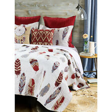 DREAM CATCHER GOLD ** King ** QUILT SET : WESTERN FEATHERS RED SOUTHWESTERN