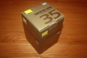 New In Box Nikon Nikkor Lens AF-S DX 35mm f/1.8G  SHIP FREE US FAST