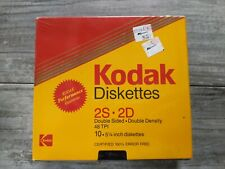 "Kodak  MD2 10 piece 5 1/4"" Diskettes 2S*2D 48 TPI"