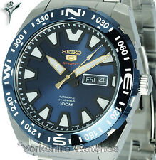 New SEIKO SPORTS AUTO RADIANT BLUE FACE WITH STAINLESS STEEL BRACELET SRP747J1