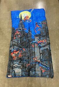 Vintage Marvel Spider-Man Blue Sleeping Bag OS Spider Man