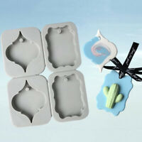 4 Cavity Aromatherapy Wax Plaster Epoxy Resin Soap Silicone DIY Candle Molds