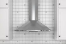 """Zephyr Zsa-M90Cs 36"""" Curved Wall Mount Chimney Hood in Stainless Steel"""