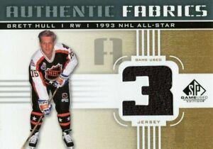 RARE 2011-12 BRETT HULL BLUES SP GAME USED 1993 NHL ALL STAR JERSEY CARD !