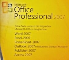 Microsoft OFFICE 2007 Professional Dauerhafte Volllizenz MLK 32/64bit ML/Deutsch