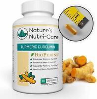 Nature's Nutri-Care Turmeric Curcumin with BioPerine - 95% Curcuminoids