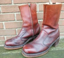 Men's Vintage 1980s Frye Campus Toe Zip Boots Size 8.5 D Style # 5554