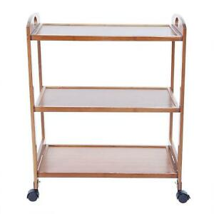 3-Tiers Moveable Kitchen Trolley Rolling Storage Rack Organizers With Wheels
