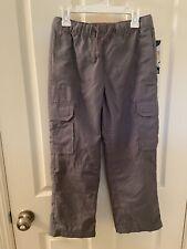 Tony Hawk Next Level Cargo Pants Gray Water Resistant Boys Size Small 8 NWT