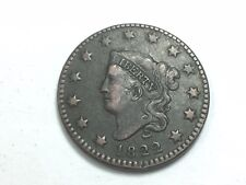 1822 Coronet Matron Head Large Cent , N-5