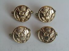 Army Uniform Replacement Pocket Buttons With Clips Lot of 4 Waterbury