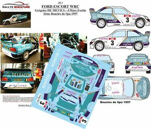 Decals 1/24 Ref 0048 Escort Cosworth of Mevius Earrings Spa 1997 Rally Rally