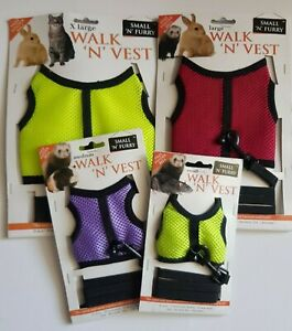 Small 'n' Furry Walk 'n' Vest Small Pet Harness with Lead & Bell