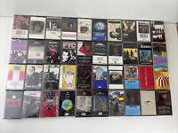Rock Pop Cassette Tape Lot 40 Cassettes ZZ Top YES Jefferson Airplane Genesis