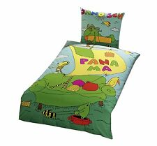 Bettwäsche Janosch Sofa Kinderbettwäsche 135x200 Tiger Frosch Baumwolle NEU