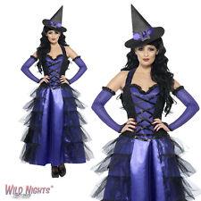 Halloween Vestido De Lujo # señoras glamoroso Bruja Disfraz Tamaño 8-18