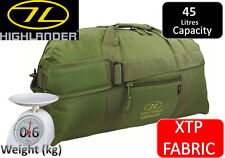 Highlander Olive GREEN Lightweight Cargo 45 Litre Military Kit Bag - XTP Fabric