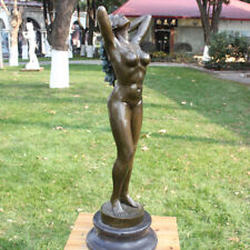 Western Classic Naked Girl Art Deco Sculpture Bronze Marble Nude Woman Statue