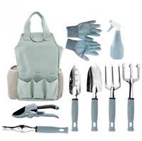 10X Garden Tools Set Rustproof Pruner Fork Trowel Hand Rake Weeder Gloves Gift