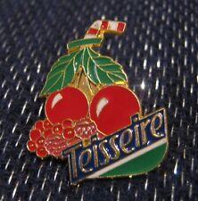 Wonderful pin badge advertising Teisseire Fruit Cherries drink France