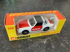 Corgi Toys 509 Porsche Targa 911s Police Car Polizei Boxed
