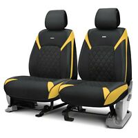 Rixxu Forza Series 1st Row Black Seat Covers w Yellow Accents