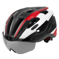 Ultralight Cycling Bike Helmet with Removable Visor Magnetic Goggles