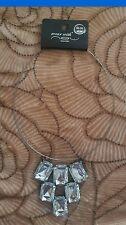 New Look Statement necklace large pendant elegant choker bib pyramid jewellery