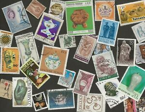 SCULPTURE & POTTERY THEMATICS - 30 STAMPS ALL DIFFERENT