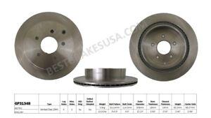 Disc Brake Rotor-Hybrid Premium Rear Best Brake GP31348