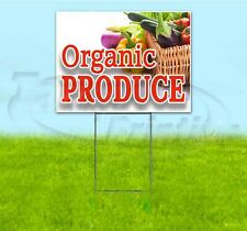 ORGANIC PRODUCE 18x24 Yard Sign WITH STAKE Corrugated Bandit BUSINESS FARM