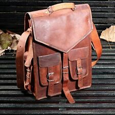 Leather season sale Top Backpack Laptop College Bag Durable Handmade