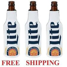 Miller Lite 3 Beer Bottle Coozie Coolie Huggie Koozie Cooler New