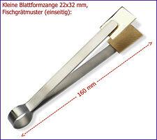 -NEU- Kleine Blattformzange 22x32mm, Fischgrätmuster (einseitig)
